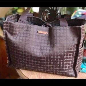 ⬇️ Beautiful Kate Spade Fabric Tote bag Sig Logo!